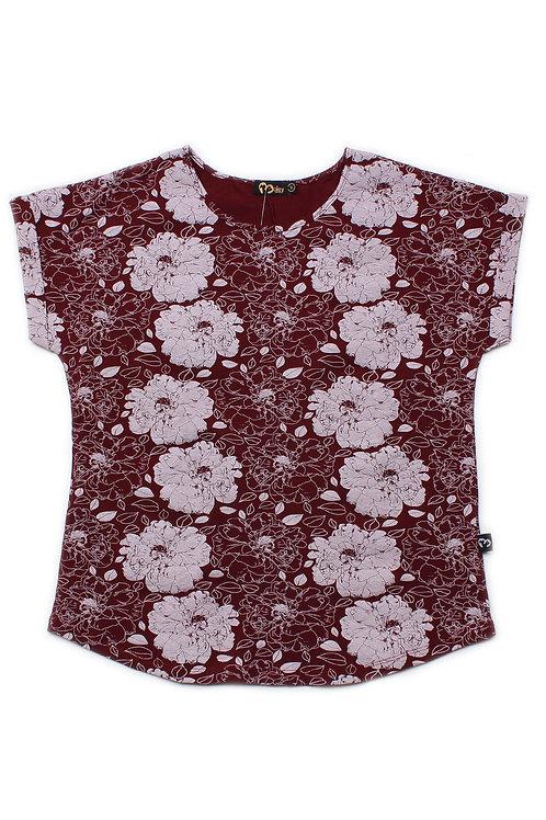 Floral Print Blouse RED (Ladies' Top)