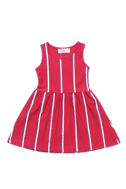 Shadow Stripes Dress RED (Girl's Dress)