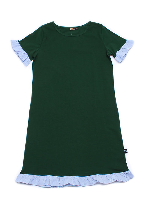 Frill Shift Dress GREEN (Ladies' Dress)