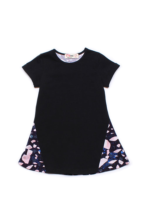 Design Print Shift Dress BLACK (Girl's Dress)