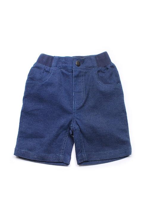 Brushed Denim Cotton Shorts BLUE (Boy's Shorts)
