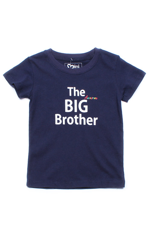 The BIG Awesome Brother T-Shirt NAVY (Boy's T-Shirt)