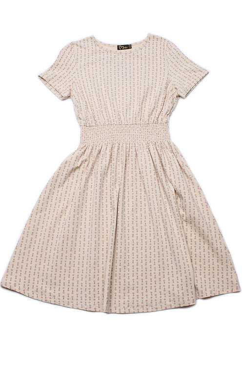 Design Print Skater Dress CREAM (Ladies' Dress)