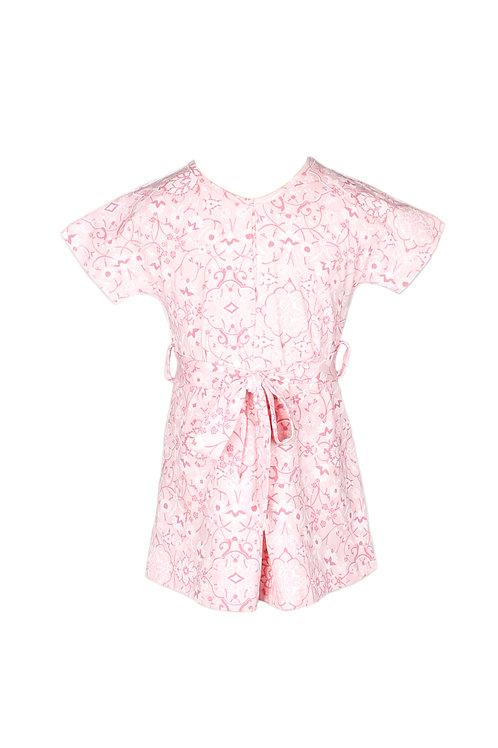 Floral Print Flare Dress PINK (Girl's Dress)