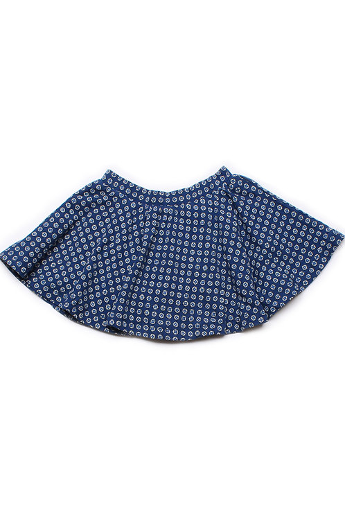 Design Print Skirt NAVY (Girl's Bottom)