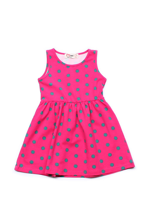 Polka Dot Print Dress PINK (Girl's Dress)