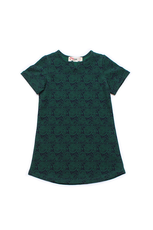 Tribal Print Shift Dress GREEN (Girl's Dress)