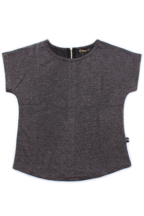 Woven Polyester Blouse GREY/BLACK (Ladies' Top)