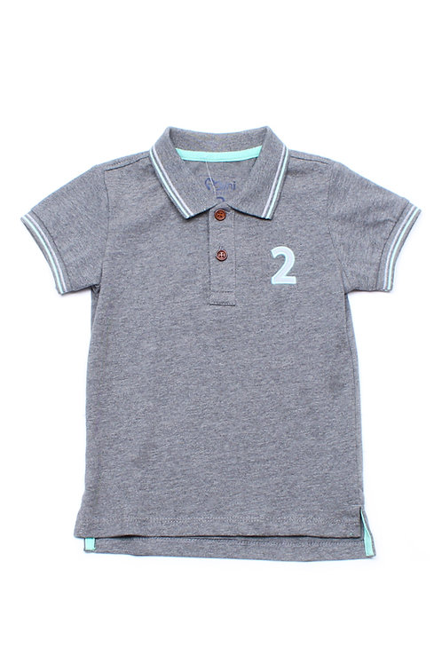 Twin Tipped Polo T-Shirt GREY (Boy's T-Shirt)