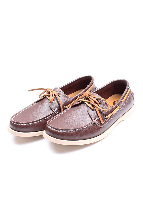 Premium Synthetic Leather Boat Shoe DARKBROWN (Men's Shoes)
