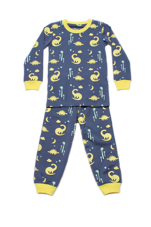 Dinosaur Print Pyjamas Set NAVY (Kids' Pyjamas)