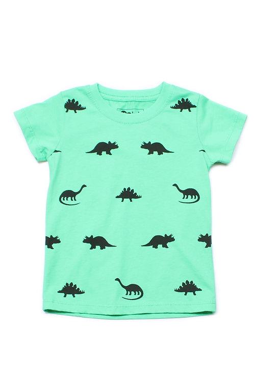 Dinosaurs Print T-Shirt GREEN (Boy's T-Shirt)