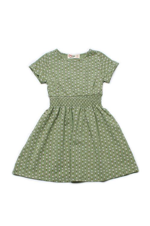 Design Print Skater Dress GREEN (Girl's Dress)