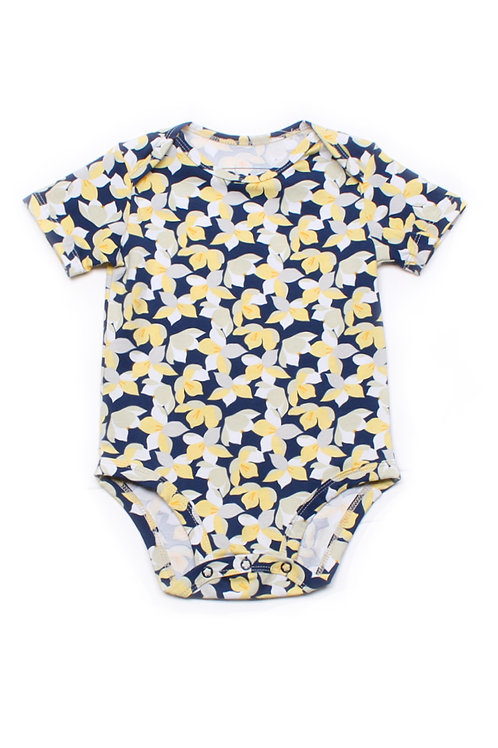 Floral Print Romper YELLOW (Baby Romper)