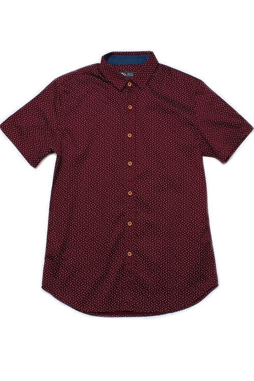 Sprinkle Print Short Sleeve Shirt RED (Men's Shirt)