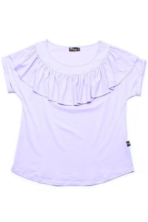 Frill Ruffle Collar Blouse PURPLE (Ladies' Top)