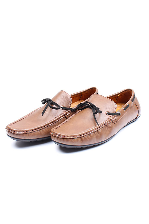 Casual Loafers with Suede Laces BROWN (Men's Shoes)