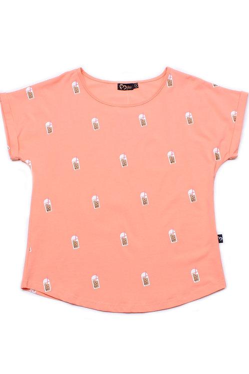 Bubbletea Print Blouse PINK (Ladies' Top)