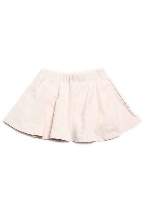 Textured Design Skirt CREAM (Girl's Bottom)