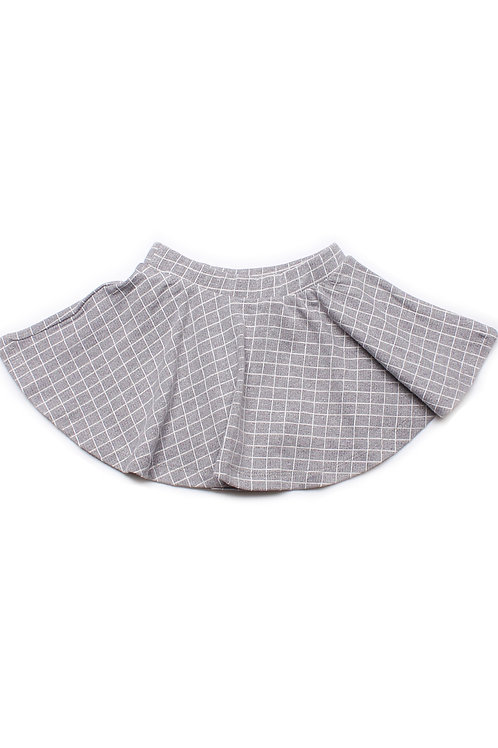 Checkered Skirt GREY (Girl's Bottom)