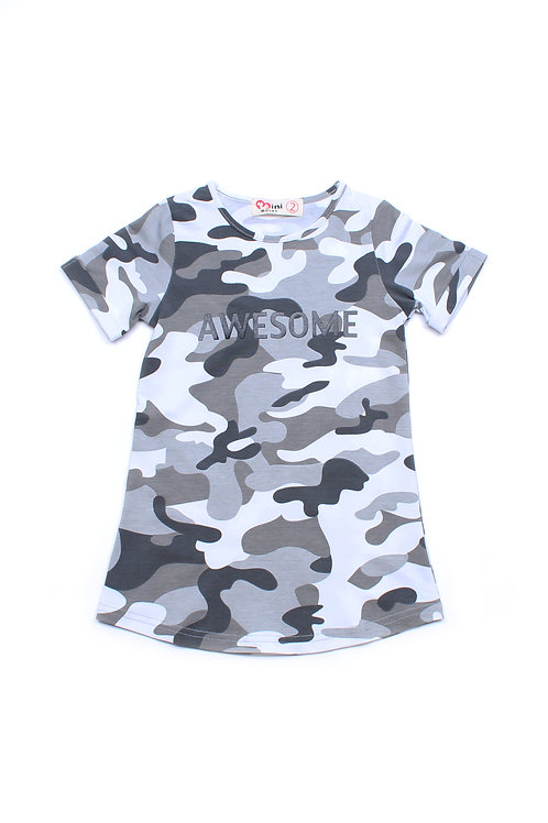 AWESOME Modern Camo Shift Dress WHITE (Girl's Dress)