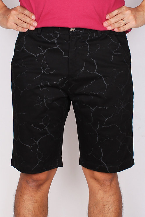Wall Crack Print Bermudas BLACK (Men's Bottom)