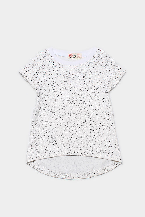 Sprinkle Print T-Shirt WHITE (Girl's Top)