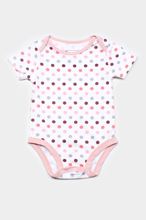 Polka Dot Print Romper WHITE (Baby Romper)