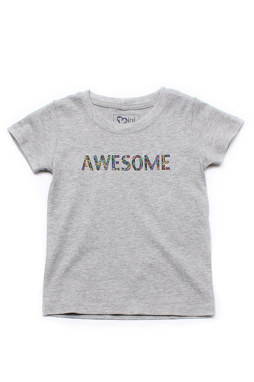 Abstract Lines AWESOME T-Shirt GREY (Boy's T-Shirt)