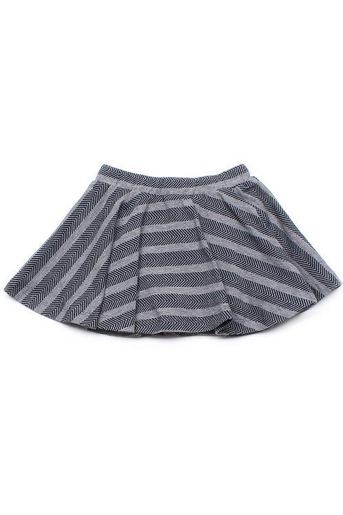 Chevron Stripes Print Skirt GREY (Girl's Bottom)