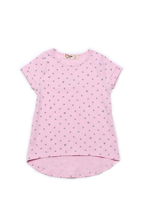 Hearts Print T-Shirt PINK (Girl's Top)