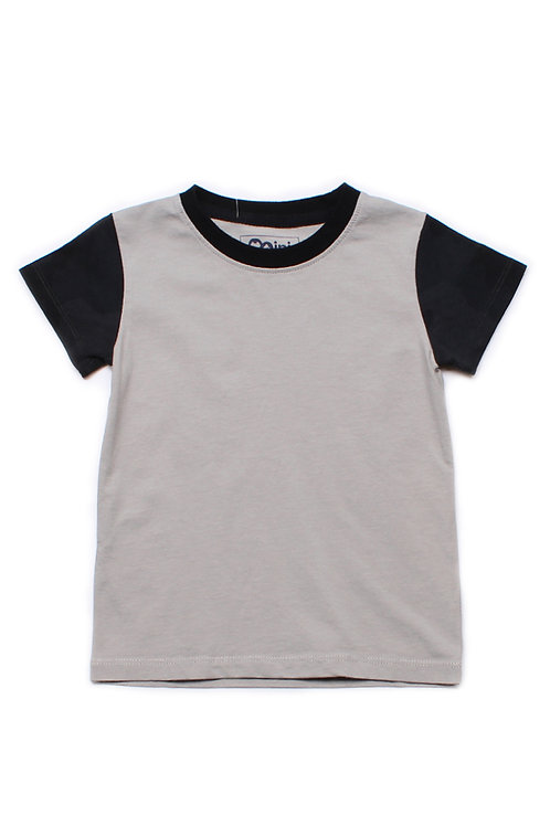 Black Camo Print Raglan T-Shirt GREY (Boy's T-Shirt)