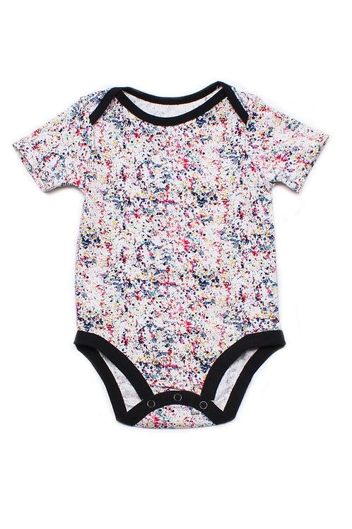 Design Print Romper WHITE (Baby Romper)