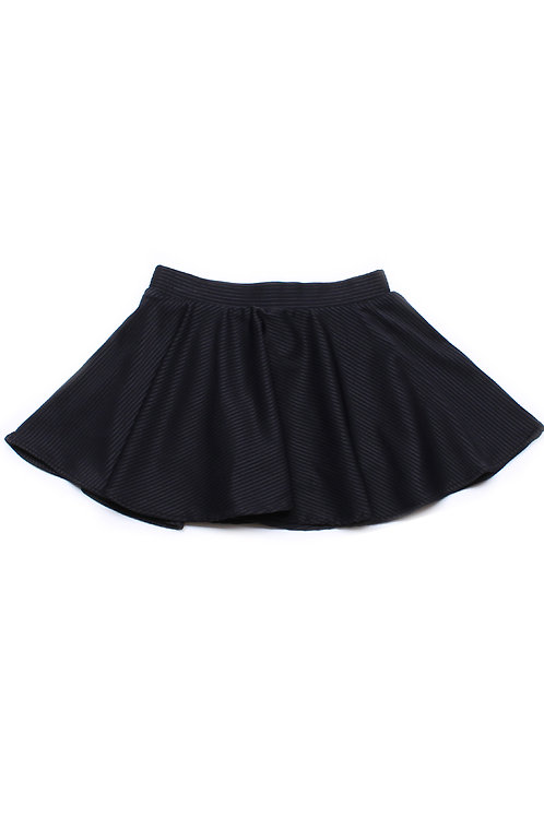 Ridged Fabric Skirt BLACK (Girl's Bottom)
