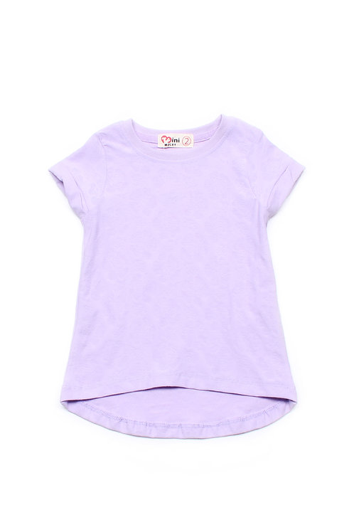 Floral Imprint T-Shirt PURPLE (Girl's Top)