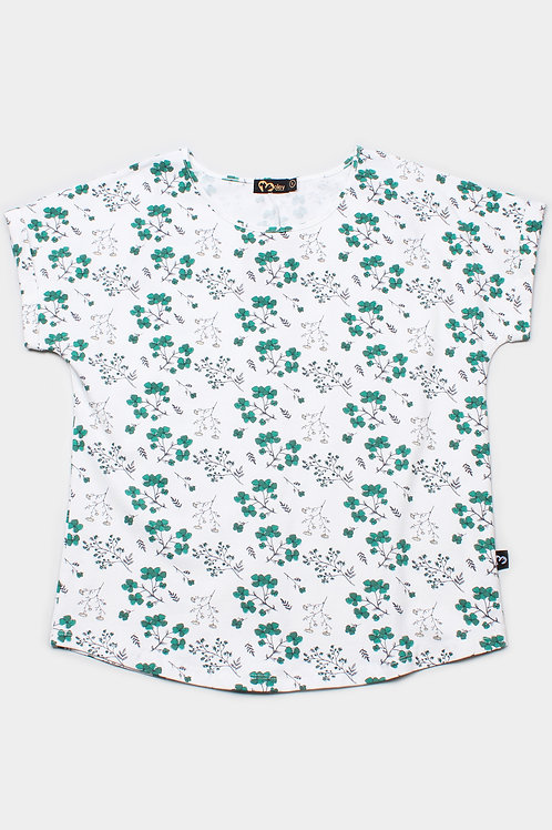 Floral Print Blouse WHITE (Ladies' Top)