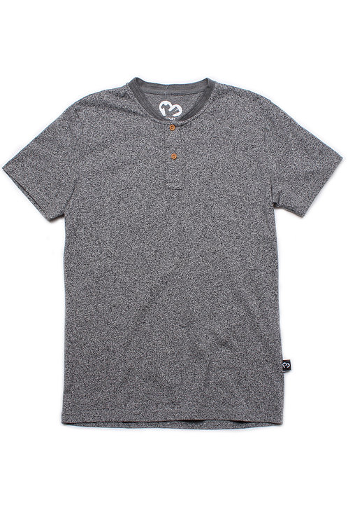 Classic Henley T-Shirt GREY (Men's T-Shirt)