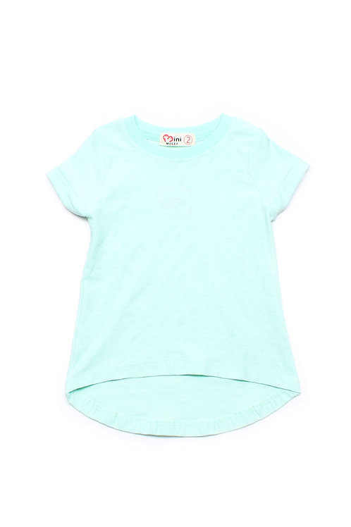 Floral Imprint T-Shirt CYAN (Girl's Top)