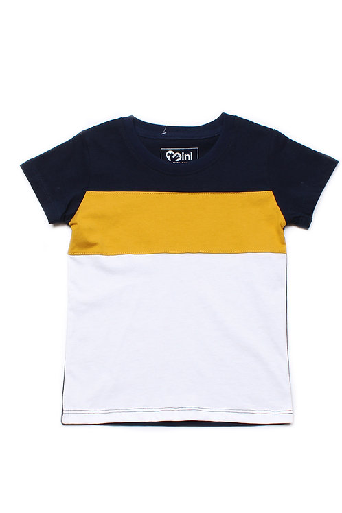 Colour Block T-Shirt NAVY (Boy's T-Shirt)
