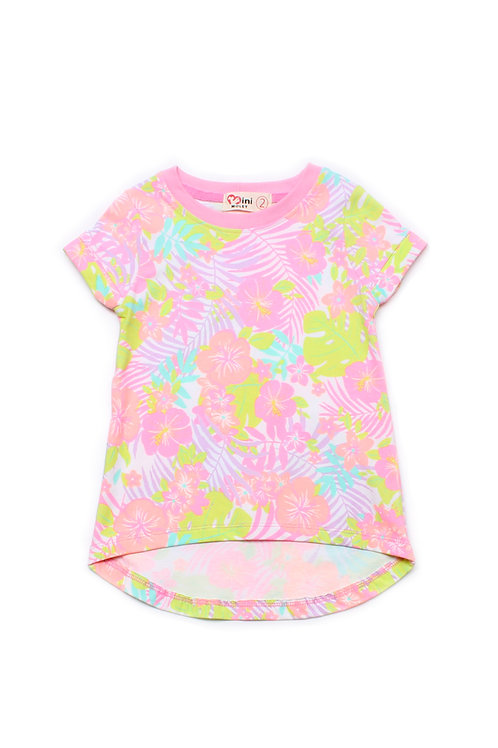 Floral Print T-Shirt PINK (Girl's Top)