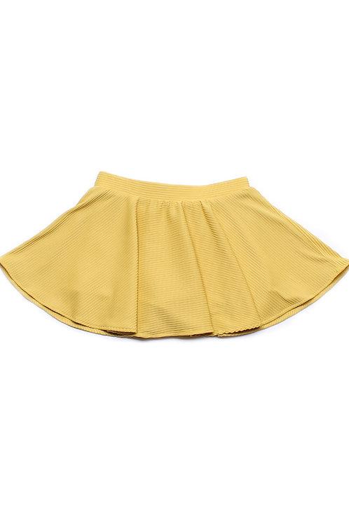 Ridged Fabric Skirt YELLOW (Girl's Bottom)