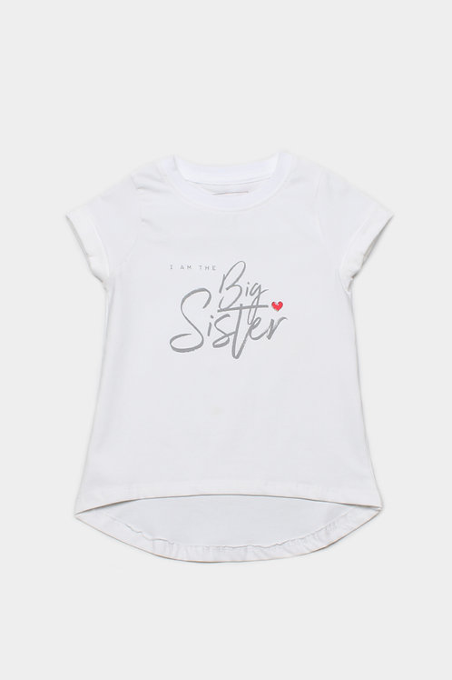 BIG SISTER T-Shirt WHITE (Girl's Top)