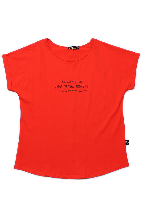 LIVE IN THE MOMENT Blouse RED (Ladies' Top)