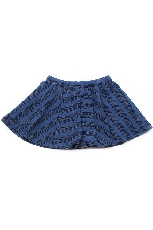 Chevron Stripes Print Skirt NAVY (Girl's Bottom)