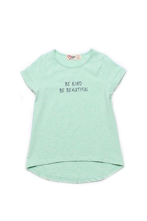 BE KIND BE BEAUTIFUL T-Shirt CYAN (Girl's Top)