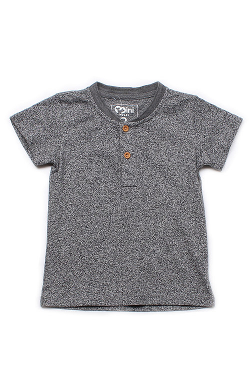 Classic Henley T-Shirt GREY  (Boy's T-Shirt)