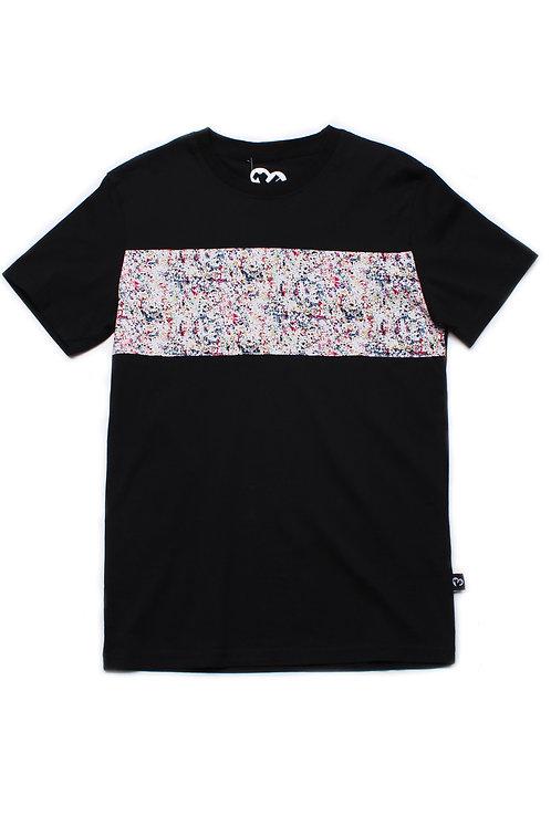 Design Print Panel T-Shirt BLACK (Men's T-Shirt)