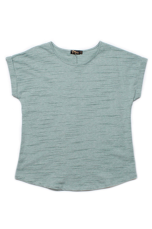 Design Thread Lines Blouse GREEN (Ladies' Top)