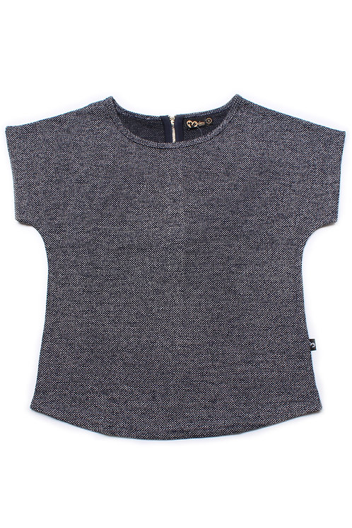 Woven Polyester Blouse GREY/NAVY (Ladies' Top)