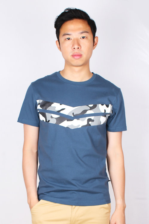 Camo Chevron T-Shirt BLUE (Men's T-Shirt)